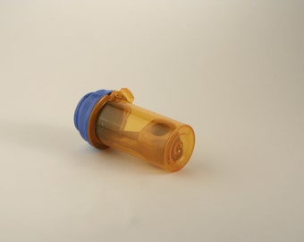 Pill bottle pipe / Ash Wood Pipe/ Small pipe / smoking pipe / Small smoking pipe / Small Ash Pipe