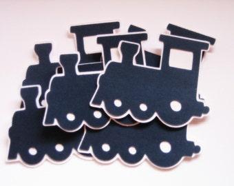 Train Die Cuts-Train Paper Die Cuts-Paper Trains-Train Confetti-Train Invitation-Scrapbook Supplies-Invitation Supplies