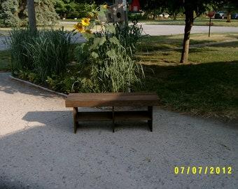 """wooden bench 4' - 15"""" deep"""
