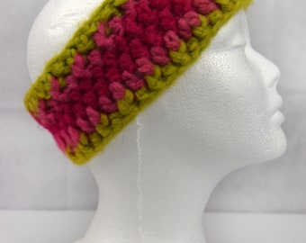 Crochet Ear Warmer Headband, Chunky Watermelon, Outdoor adventure - 5 colours available