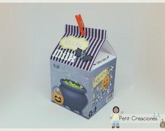 "PRINTABLE MILK Carton ""Spooky Milk"" DIY, gift idea, placeholders, favor box, treat box, gift box for Halloween party"