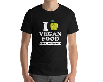 Vegan Food Distressed Green Bella And Canvas Men's T-Shirt