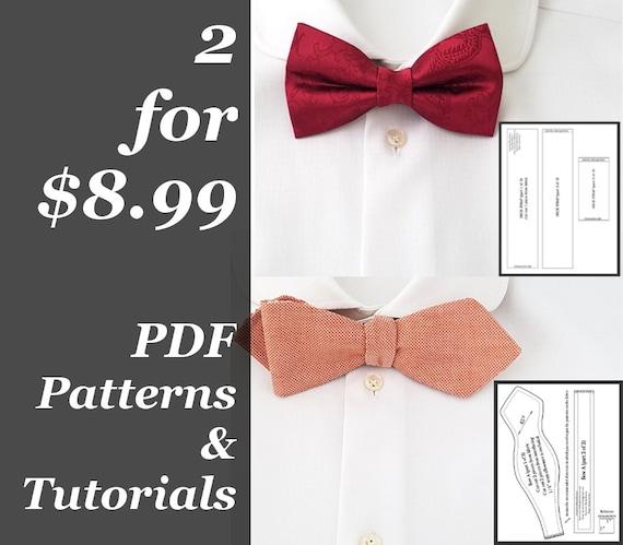 Bow tie pattern Pdf sewing pattern for men Classic Tuxedo pre tied ...