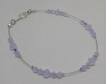 Violet Opal Swarovski Crystal Anklet
