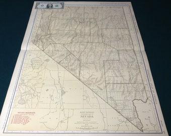 Nevada railroad map Etsy
