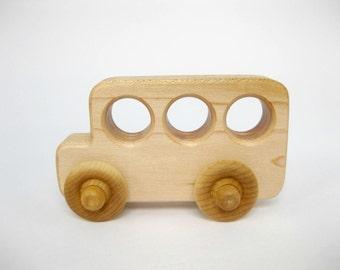 Wood Toy School Bus, little wooden toy