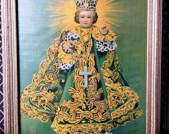 Vintage Infant of Prague Framed Print 1950's