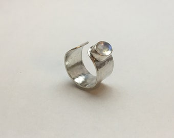 Forged ring with Moonstone