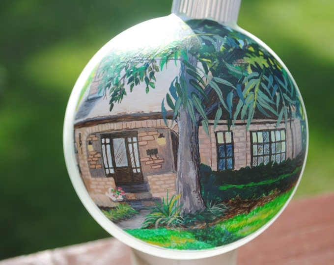 Custom Hand Painted Home ornament for a unique one of a kind House warming or special occasion gift -sold
