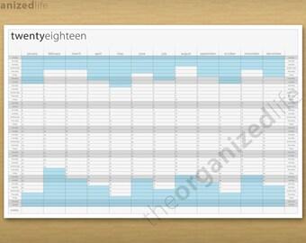2018 Wall Calendar - Printable PDF