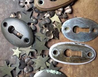 Antique Keyholes, Photo Prop, bridal keepsake, hardware, adornment