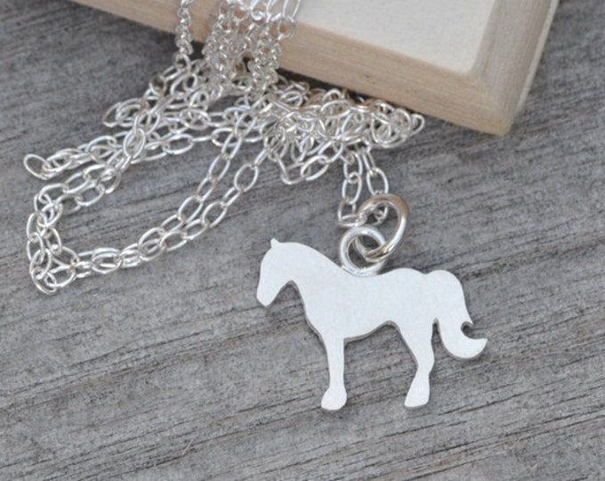 Horse Necklace In Sterling Silver, Silver Horse Necklace Handmade In The UK By Huiyi Tan