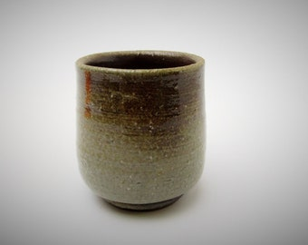 Bizen Yunomi/Tea cup.Wood Fired pottery.Vintage Japanese Pottery.Goma.#ynm77.msjapan