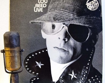 """ON SALE Lou Reed Vinyl Record Album 1970s Classic Rock Alternative """"Lou Reed Live"""" (1980 RCA Re-Issue w/ """"Walk on the Wild Side"""", """"Vicious"""")"""