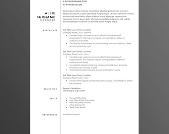 Clean Smart and Modern Resume/CV Template The Amanda