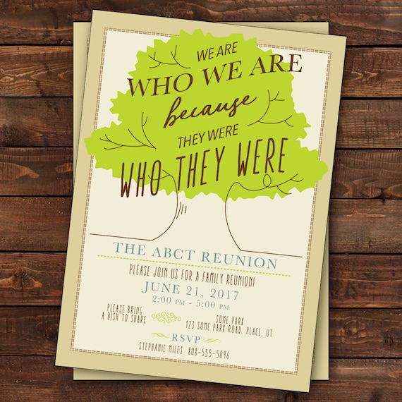 Family Reunion Invitation Tree Family Reunion Invitation