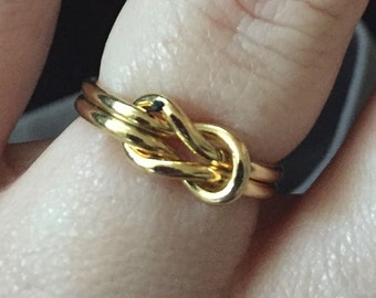 Gold fill friendship knot ring