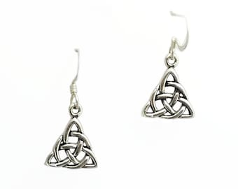 Celtic Earrings~Sterling Silver Trinity Earrings~Celtic Triquetra Earrings~925 Celtic Knot Earrings~Trinity Knot Earrings~Irish Jewelry
