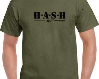 Hash 420 Funny Weed T Shirt Marijuanna Clothing and Marijuanna Accessories