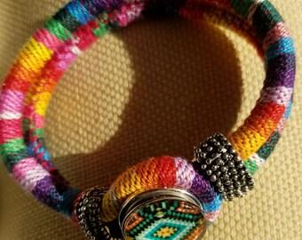 Bohemian snap bracelet