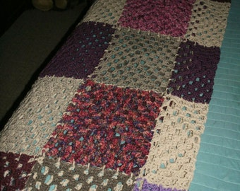 Crocheted decorative blanket