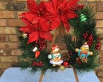 gingerbread cookie cutter wreath