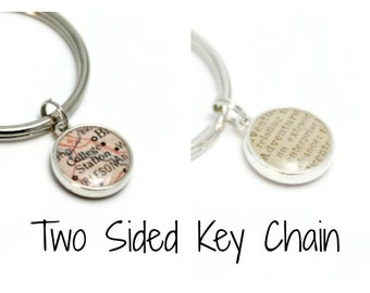 Two Sided Sterling Silver Keychain
