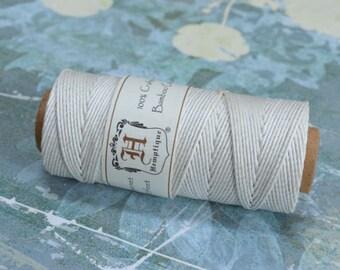 Hemp Cord White Polished 1mm 205 Feet 20 Pound Test