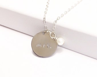 Silver Disc Necklace, Initial necklace, Monogram Necklace, Letter Necklace, Gift for Girlfriend, Bridal Party Gift, Gift Idea for Her,