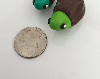 Small Turtle Polymer Clay Charm