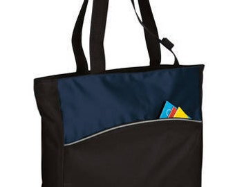 2 color tote bag