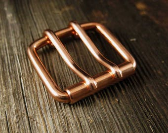Double Prong Copper Belt Buckle | Extra Strong | ALL Widths | Inch mm