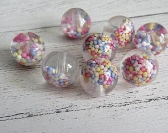 Handmade Resin Focal Bead. Artisan Bead. One Bead. 14mm Approx.
