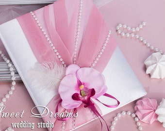 Pink orchid folder for marriage certifcate, Wedding folder for certificate, Wedding certificate folder, Wedding certificate cover