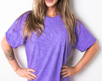 Purple Swirl Spiral Tie Dye T-Shirt Ladies [57] - LIMITED STOCK - Exclusive - Great Quality Festival Music