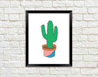 Cactus Poster, Cactus Print, Cactus Printable, Cactus Art, Cactus Digital Art, Cactus Wall Art, Cactus Digital Print, Cactus Art Print