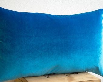 Blue velvet pillow, Velvet pillow, Velvet pillow cover, Blue velvet pillows, Cheap throw pillows, Linen velvet pillows, Mother's day gifts