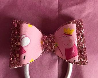 Peppa Pig pink bow
