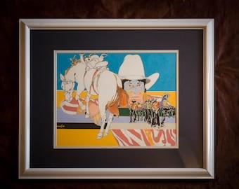 The Boss - Original Framed Cowboy Art