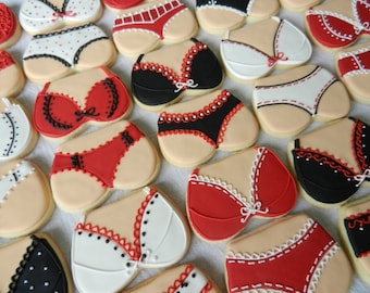 Hand decorated sugar cookies Boobies and Booties for bachellorette parties (#2300)