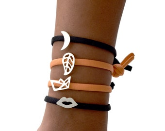 Silver Charm Elastic Bracelet - Choose your Charm