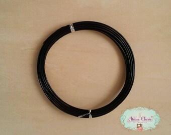 Spool of 5 meter wire Black 2 mm diam.