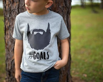 Beard Shirt, Kids Beard Shirt, Kids Tshirt - Beard Goals - Future Beard Shirt - Kids Beard - Boys Beard Shirt - Fathers Day Shirt - boy gift