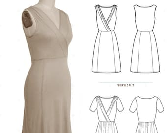 Colette Patterns Wren  - Knit Dress Sewing Pattern