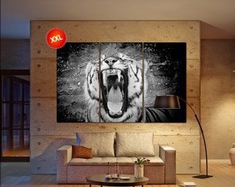 tiger print  print  on canvas wall art The face of a tiger photo art work framed art artwork