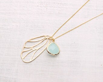 Fairywing necklace turquoise