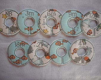 sea friends closet divider set