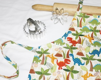 Dinosaurs and Volcanos Child Apron