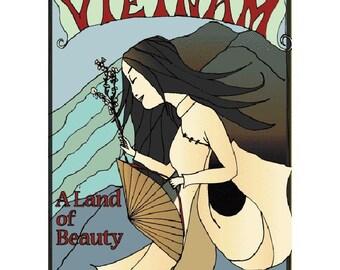 VIETNAM 1S- Handmade Leather Journal / Sketchbook - Travel Art