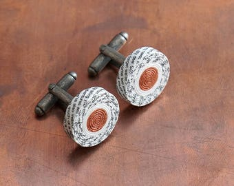 Personalised Paper Cufflinks with Custom Engraving, 1st Anniversary Gift